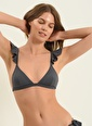 Morhipo Beach Morhipo Beach Omuz Volanlı Üçgen Kadın Bikini Antrasit
